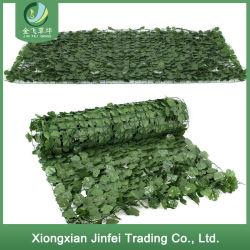 Hoja de plástico venta al por mayor cobertura de cerco de la planta decorativa Artificial