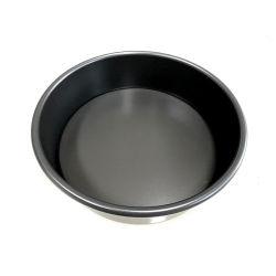 Revêtement dur de 4 pouces Fond noir amovible ronde en alliage aluminium la cuisson des gâteaux de moule à gâteau Moule à gâteau anniversaire