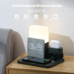 5-en-1 nouveau portable multifonction 10W Chargeur rapide sans fil