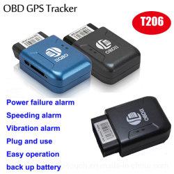 도난 방지 OBDII GSM 미니 안전 자동차 GPS를 쉽게 설치합니다 차량/오토바이 자동차 T206용 추적기