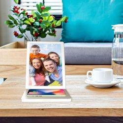 Aiyos 9.7Inch Digital Signage mais recente ecrã LCD táctil WiFi com carregador de telemóvel para desktop