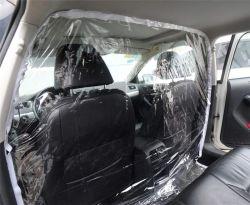 غطاء عزل مقعد السيارة الخلفي يمنع الصالحية من الانتشار يعزل ملصق الحماية الشفاف بسيارة الأجرة الرئيسية التي تسير على الطرق