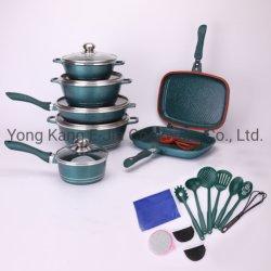저렴한 선물 23개 다이 캐스트 알루미늄 세라믹 코팅 Non-Stick 조리기구 세트 주방 요리 도구 세트