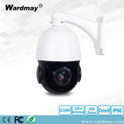 4.5'' HD 2.0MP exterior CCTV de alta velocidad de 20X Cámara PTZ IP Domo
