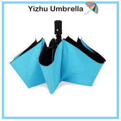 Ombrello antivento di corsa, un ombrello piegante compatto leggero delle 8 nervature con il blocco per grafici di rinforzo, maniglia della Slittare-Prova, automobile aperta/vicina (YZ-20-53)