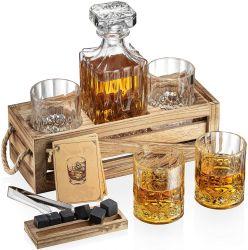 Les nouveaux arrivants 2020 Premium Boîte en bois artisanal Ice Cube Whiskey ensemble cadeau de Pierre