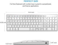 [رشرجبل] [بلوتووث] لوحة مفاتيح, جلاتين مشط لاسلكيّة لوحة مفاتيح نحيلة مع رقم كتلة تماما - حجم تصميم