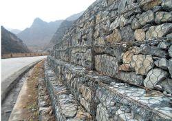 Rete a gabbia in pietra tessuta esagonale di alta qualità e zincata saldata Gabion Box