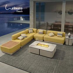 Mobiliário de exterior moderno L Shape Estofos Jardim Seccional Sofá Lounge para projectos - Tagore