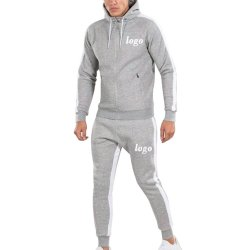 Jaqueta de velo de homens e jogging Pants Suor Suit / Jogging Suit Barato Mens Slim Fit Plain Sportswear Via Prensa