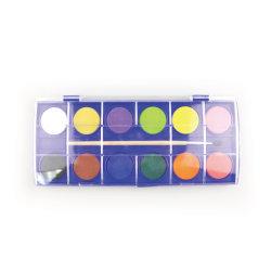 12цветов акварель краски твердых воды цветовую палитру для детей