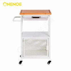 Onenoe Nuevo Diseño 3 niveles de almacenamiento Muebles modernos malla metálica extraíble Carrito de Cocina con Cesta