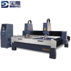Bd1825 헤비듀티 이중 헤드 스톤 CNC 라우터 머신 중국