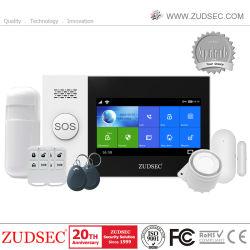 RFID de ahorro de energía de la pantalla táctil de la tarjeta GSM de alarma antirrobo inteligente WiFi + Sistema de Alarma de seguridad del hogar