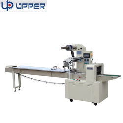 Automatische horizontale flow Pillow Mask Bakery Bread Biscuit Cookies wafer Sandwich Packing Packaging machine