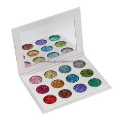 Gamma di colori su ordinazione urgente impermeabile dell'ombretto della polvere di scintillio del contrassegno privato delle estetiche di trucco
