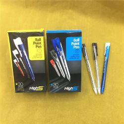 De plástico barato al por mayor de 0,7 mm Haga clic en Bolígrafo para papelería suministros de oficina