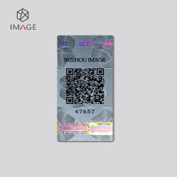 Código QR Stock imprimible etiqueta holograma de autenticación