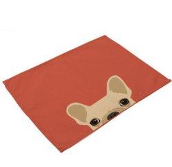 주문 인쇄 면 리넨 테이블 Placemat 식탁용 접시받침
