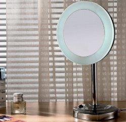 Specchio diritto libero della Tabella di trucco del lato LED di Fyeer singolo
