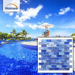 Schillernde Kristallglas Schwimmbad Mosaik Fliesen