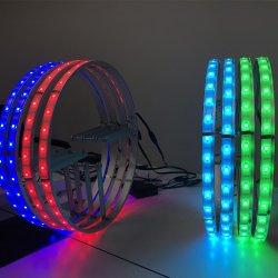Горячие! Кнопки односторонняя RGB LED колеса комплект уплотнительных колец для поверхностного монтажа 5050 чипов для Jeep Wrangler 15/16/17дюйма