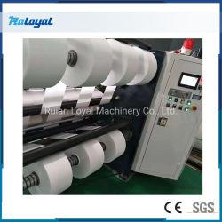 Control automático de PLC de alta velocidad derretir fundido Tejido sin tejer de la máquina de corte de material para la máscara