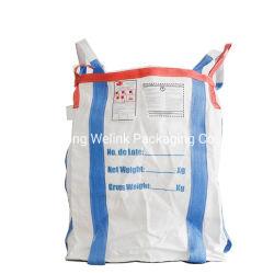Китай производство 500 кг 1000 кг, 1500 кг, 2000 кг 5: 1 фактора безопасности Food Grade FIBC контейнер 1 тонны PP тканого Jumbo Frames Пакет Big Bag с U панель /циркуляр Органа