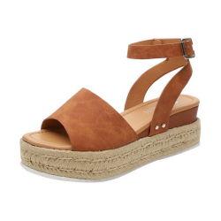 Zapatillas para mujer Gladiador puntera abierta Sandalias suaves con hebilla femenina Casual Plataforma Playa Zapatillas de zapatilla