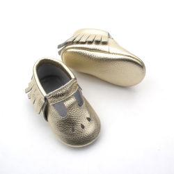 패션 토사멜 가죽 유아용 신발 소프트 솔