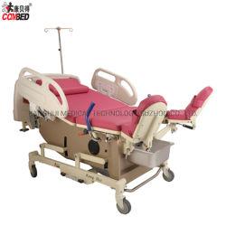高品質の新生の赤ん坊のGynecologyのObstatric PUの革病院で使用される泡立つマットレス配達Ldrのベッド