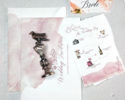 Reso personale progettare le cartoline d'auguri per il cliente degli inviti di cerimonia nuziale con differenti colori