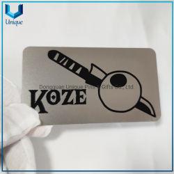 تصميم مخصص مجاني بطاقة أعمال معدنية من الفولاذ المقاوم للصدأ، بطاقة عضوية مميزة، بطاقة ائتمان مغناطيس