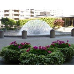 Meia bola de cristal de jacto de água Dandelion Fountain Bicos
