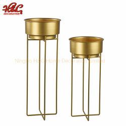 Goldfarben-Metallblumen-Potenziometer-Halter-Ausgangsdekoration