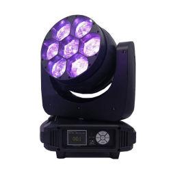 段階軽いDJ装置7X40W RGBW 4in1のビーム洗浄ズームレンズLED移動ヘッドライト