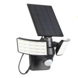 動きセンサーの壁の庭ライトが付いている二重ヘッド太陽LEDライト