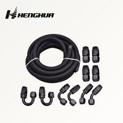С4 4с -4 NBR резиновый черный нейлон охладителя масла оплеткой шланга подачи топливного газа и комплект фитингов для автомобильных гонок
