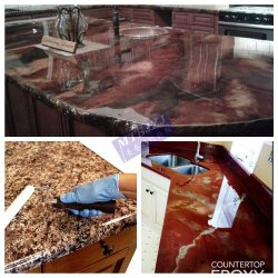 Бесплатно Лос не пахнет горелым Очистить кухонный стол кухня эпоксидной смолы
