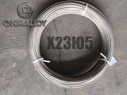 Fils d'alliage Fechral KH23yu5 sur le fil de chauffage de 5 mm pour four industriel russe