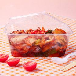 Одноразовые квадратный алюминиевый ланч-бокс упаковочные контейнеры для еды с пластиковыми крышками для покрытия путевых расходов для пикников и быстрого питания