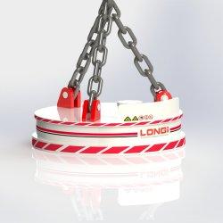 모델 LMW1 원형 리프팅 자석 금속 가공 산업 스크랩 시리즈 강철 리프트 폐기물 강철 리프터
