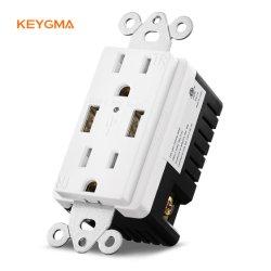 Сша стандартный USB 4.2A мощности промышленных стены дома с USB