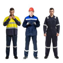 Station de gaz fait sur mesure uniforme de travail retardateur de flamme de gros uniforme antistatique