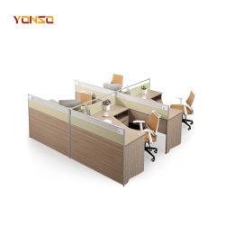 Pessoa multizona personalizada mobiliário de escritório de alumínio com vidro de partição