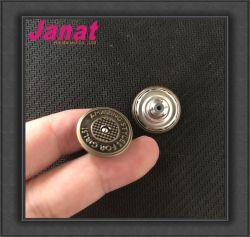 Comercio al por mayor barato Logo 3D Botón personalizado hecho Tack Jeans