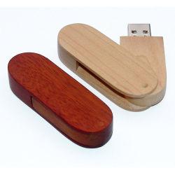 подарок для продвижения деревянные поворотный USB флэш-памяти Memory Stick™