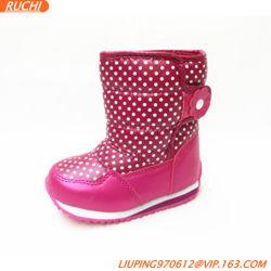 Моды Style девочек снег ботинки, мелочь зимой снега загружается Antislip
