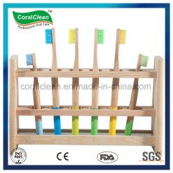 BSCI 100% экологически чистые природные деревянной ручкой из натуральной щетины Charcol зубную щетку из бамбука
