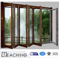 목제 곡물 알루미늄 여닫이 창 공간 유리제 문에 의하여 경첩을 다는 안뜰 문 금속 문